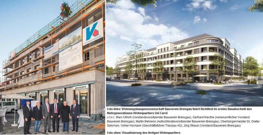 Wohnungsbaugenossenschaft Bauverein Breisgau: Bau eines neuen Mehrgenerationen-Wohnquartiers