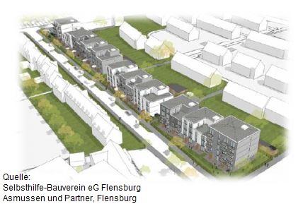 Erstes von drei Bauvorhaben in Flensburg gestartet: