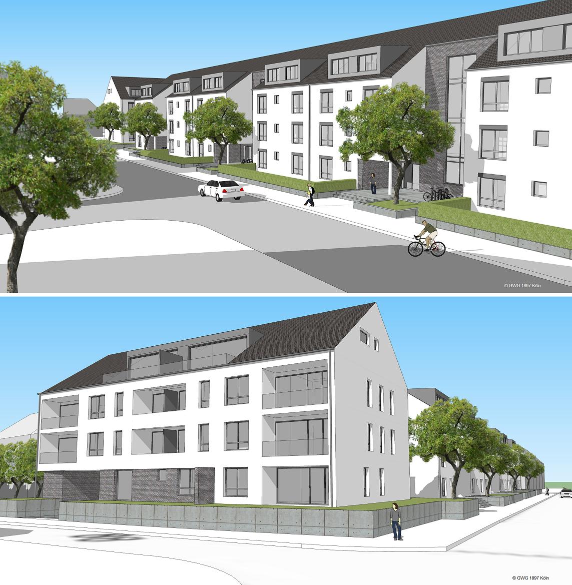 Köln: GWG 1897 baut 47 barrierefreie Wohnungen in Dellbrück