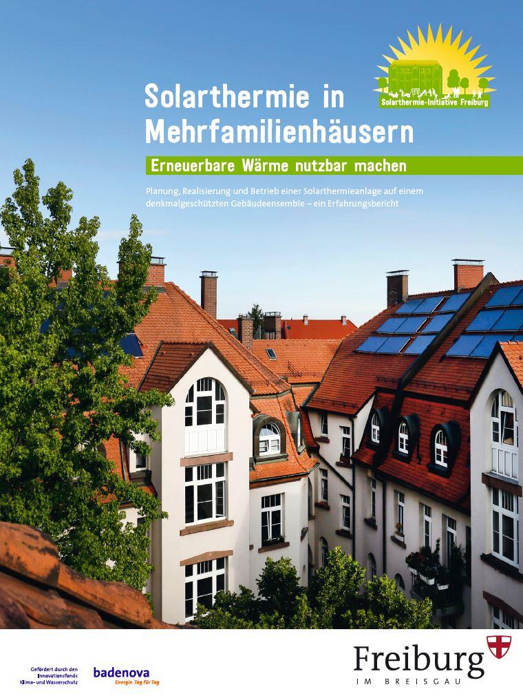 """Exkurs - Stichwort Energiewende: Bauverein Breisgau ist Teilnehmer des Demonstrationsprojekts """"Solarthermie in Mehrfamilienhäusern"""""""