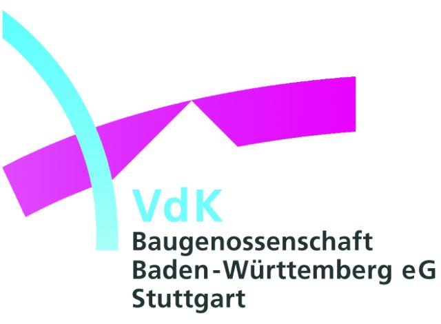 Logo VdK Baugenossenschaft Baden-Württemberg eG Stuttgart