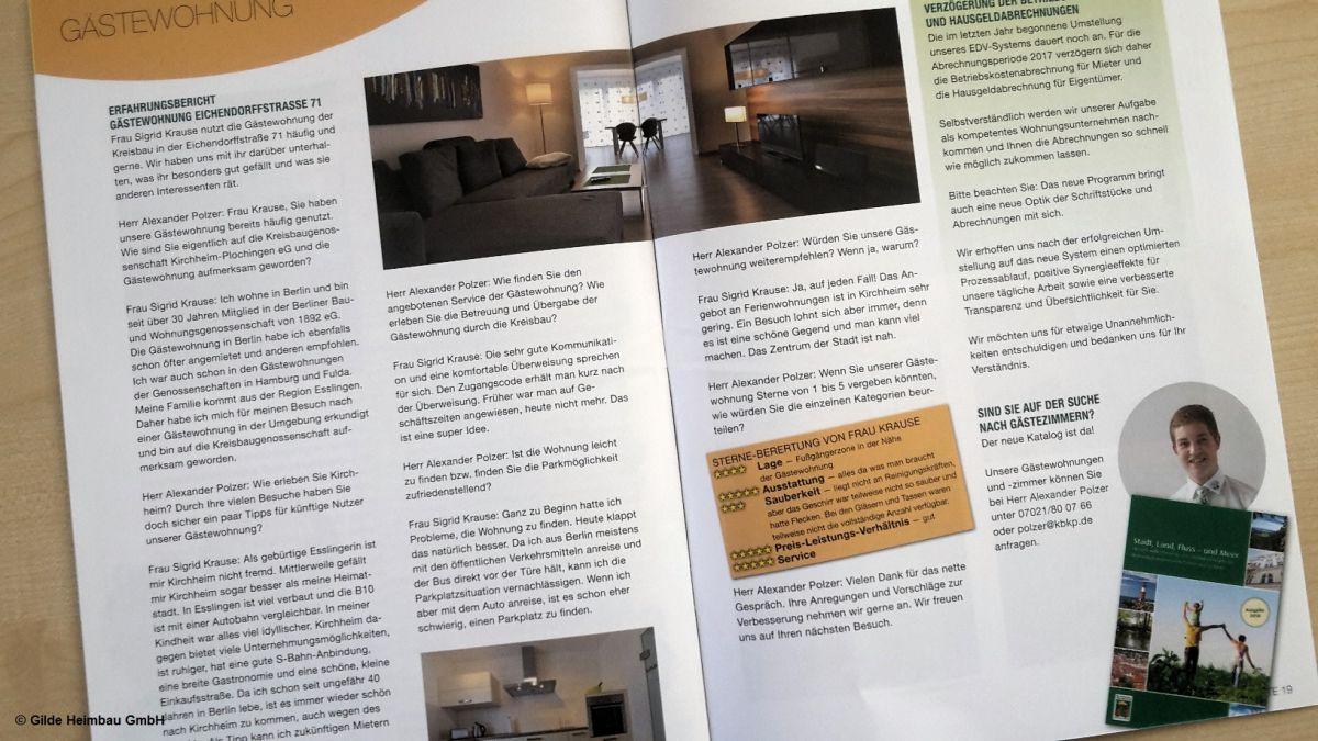 Die Region, die Gästewohnung und ein tolles Interview machen Lust auf Kirchheim unter Teck