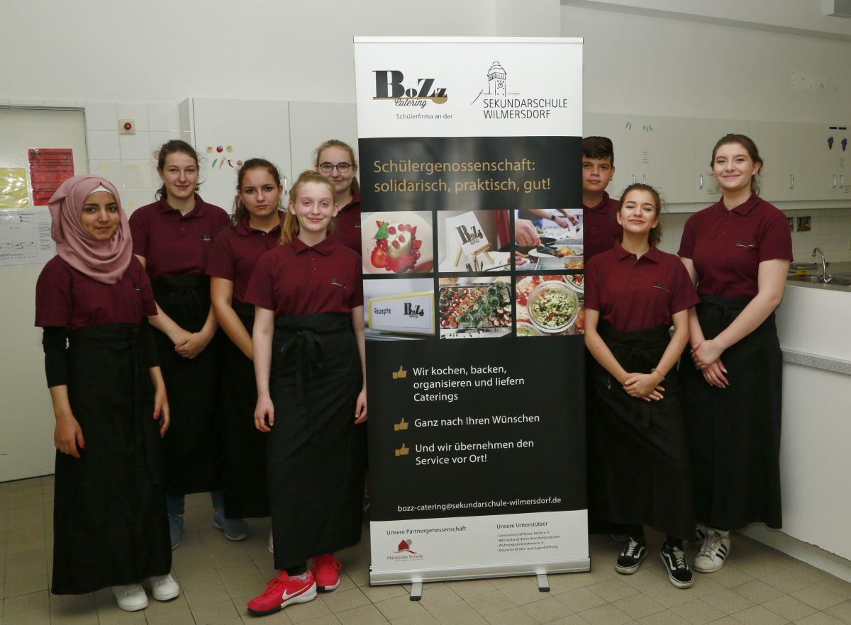 Wie die Märkische Scholle die Schülergenossenschaft BoZz Catering unterstützt